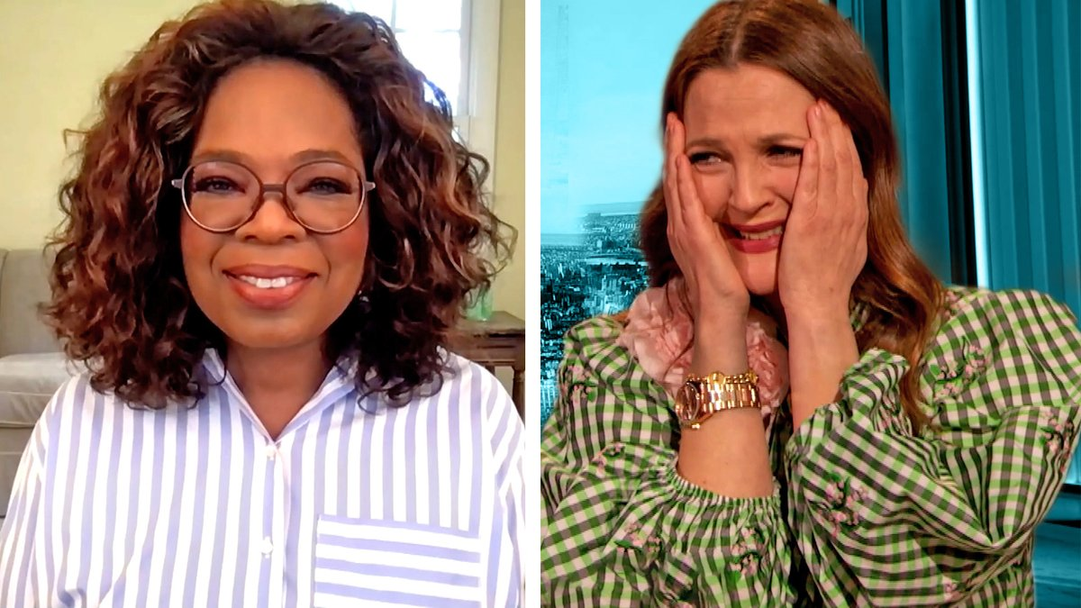 .@Oprah Winfrey reveals how Drew changed her life with the show's use of green-screen technology.  Watch:
