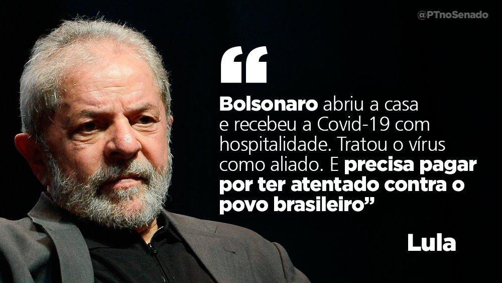 Lula cobra responsabilização do governo sobre o genocídio do povo brasileiro. https://t.co/ymoB3agtGx