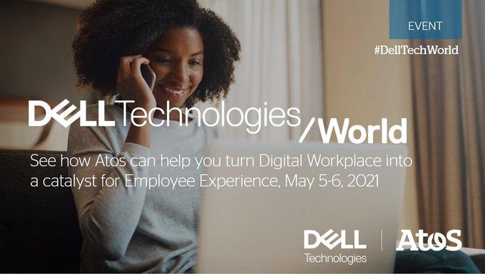 在#delltechworld加入我们的演示会话关于@delltech和atos工作肩部的...