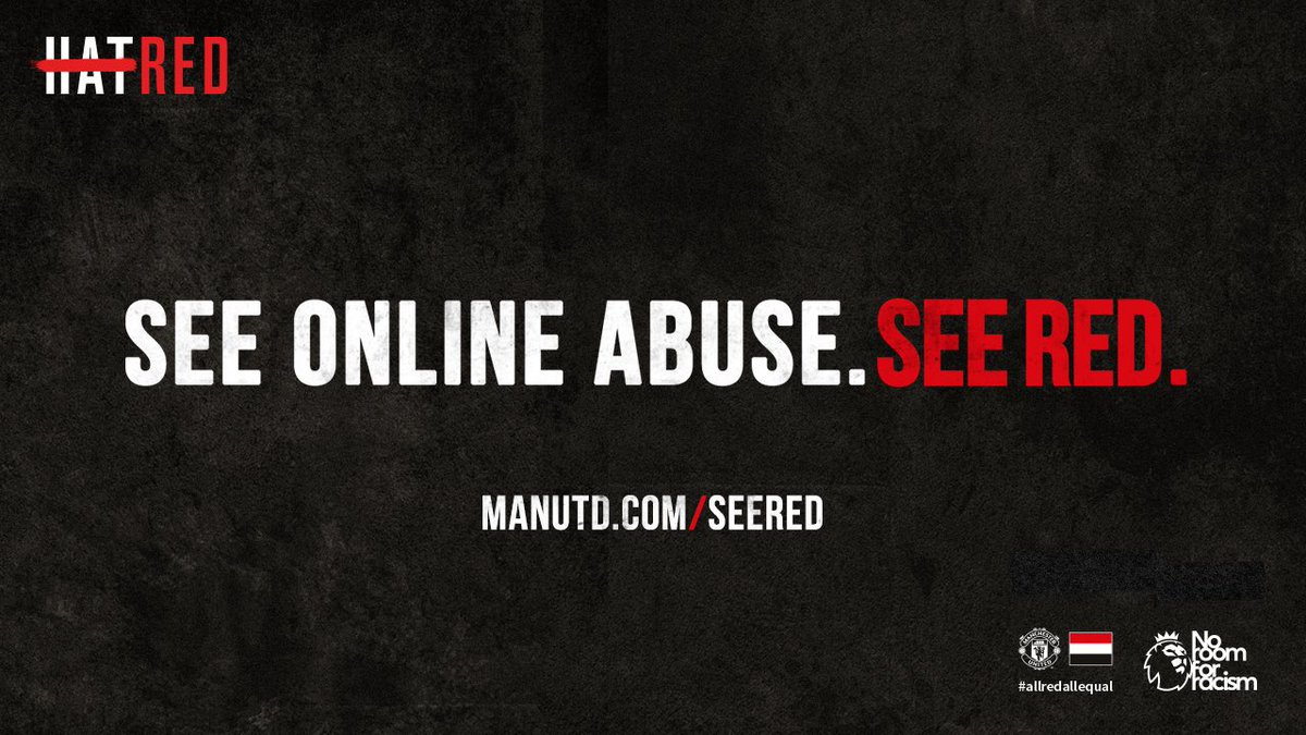 We want everyone to join us. Together we can stop it. #AllRedAllEqual #StopOnlineAbuse https://t.co/1f3HffVjsf