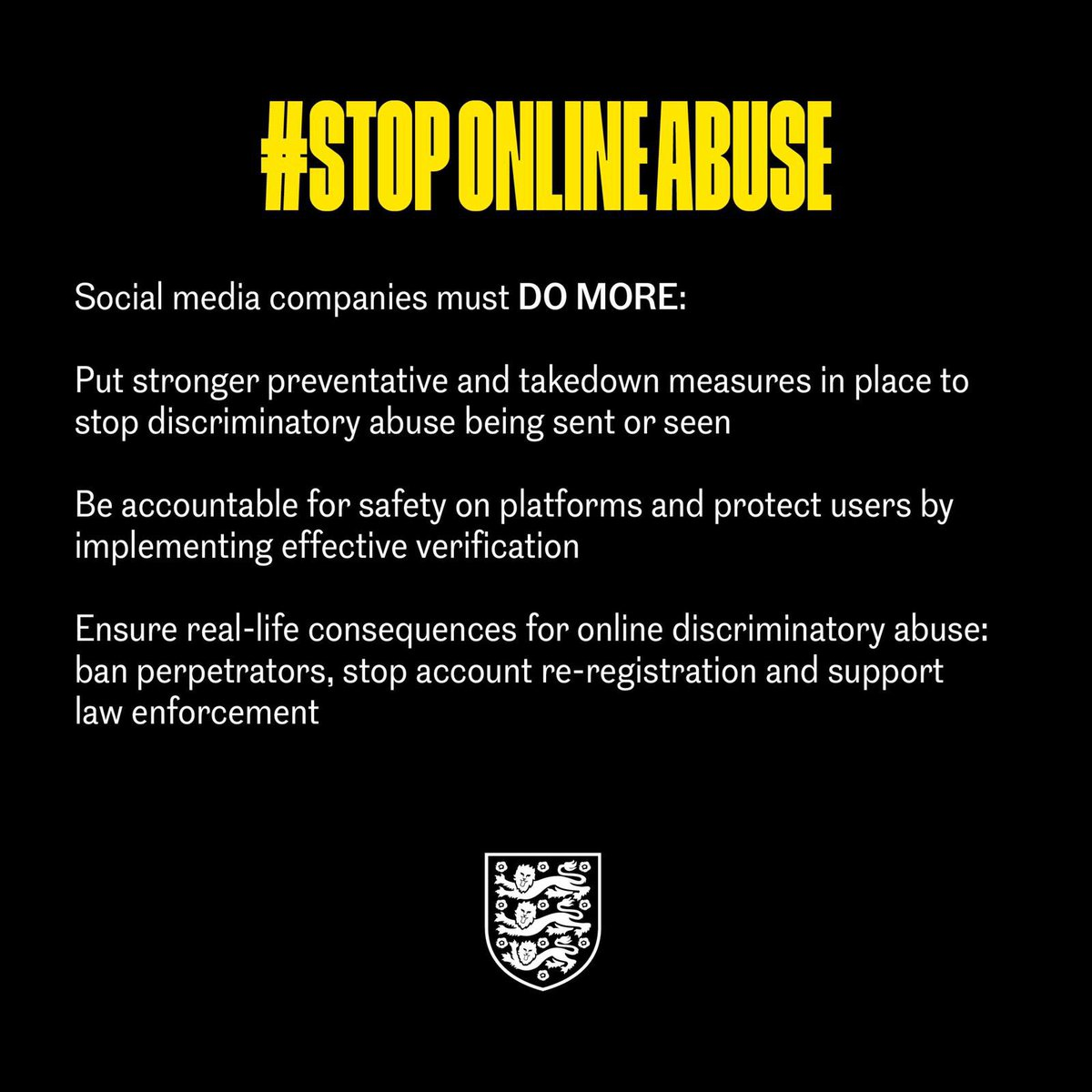 This weekend we are coming together with other sports and organisations, to boycott social media and demand change.  #StopOnlineAbuse #NoRoomForRacism https://t.co/iW5OW7WjeO
