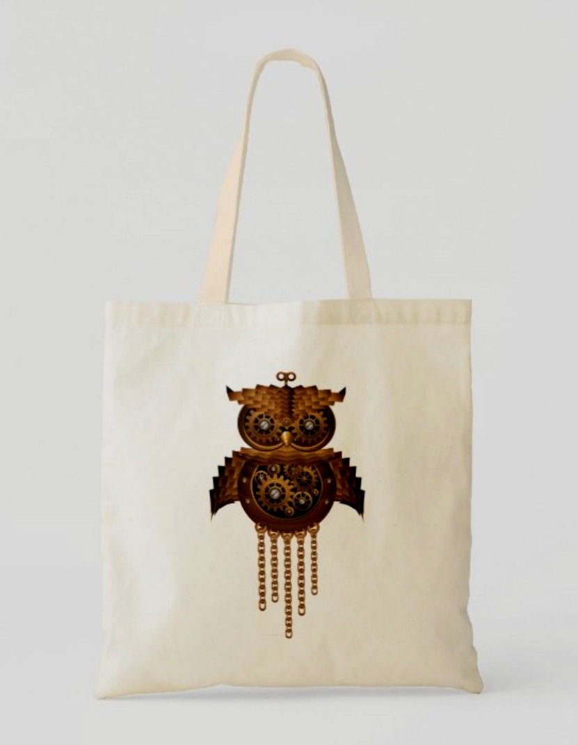 #Fashion Awesome of the Day ⭐ ➡️ #Steampunk ⚙️ #Owl 🦉 Tote #Bag 👜 via @bluedarkArt #SamaFashion 👕  ➡️ View More #SamaCollection 👉 https://t.co/Kugls3IJqU