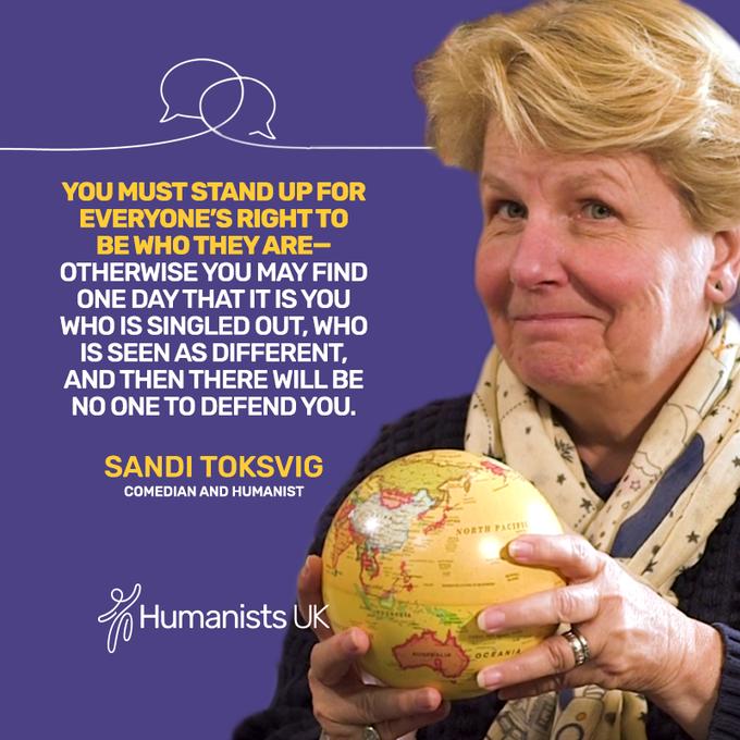 Happy Birthday to our patron Sandi Toksvig!