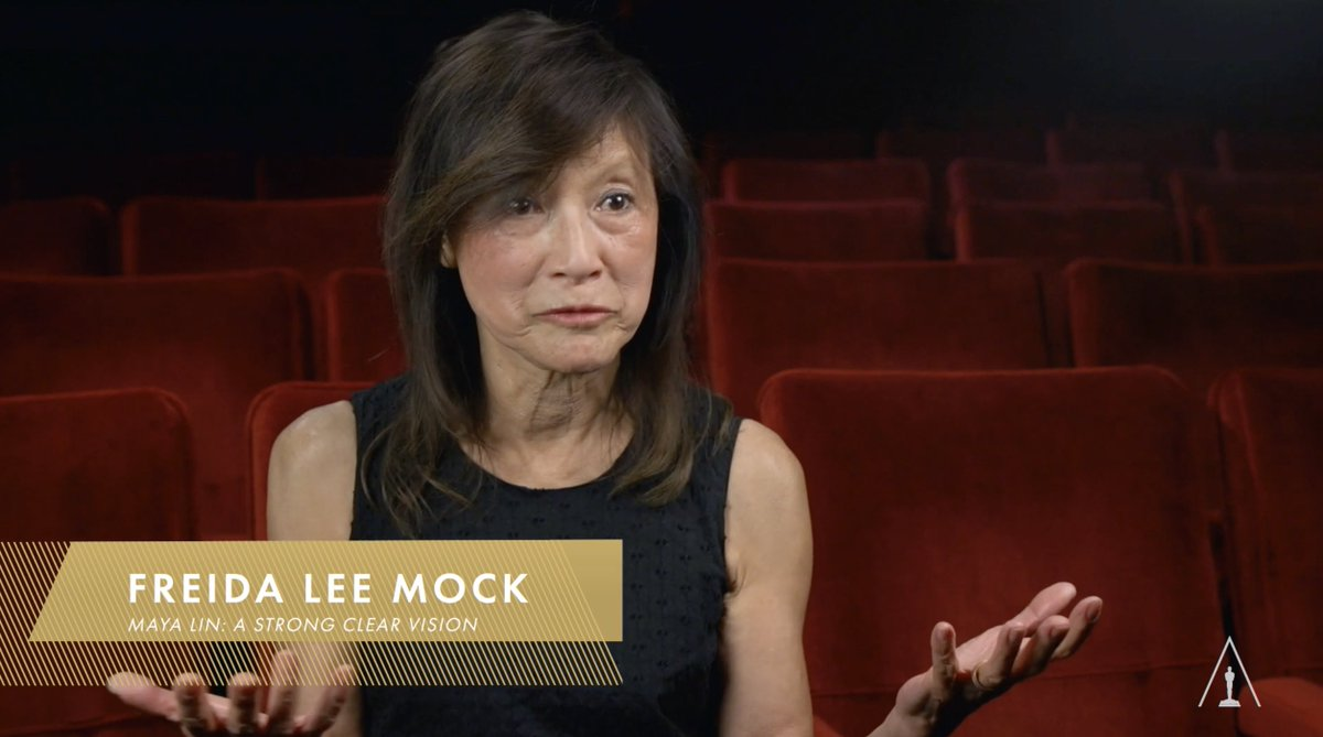 "Freida Lee Mock reflects on ""Maya Lin: A Strong Clear Vision"" (1994) as the project which ""helped define"" her. The insightful portrait of the young Asian American designer of the Vietnam Veterans Memorial was Mock's first feature-length documentary and won an Oscar. #APAHM"