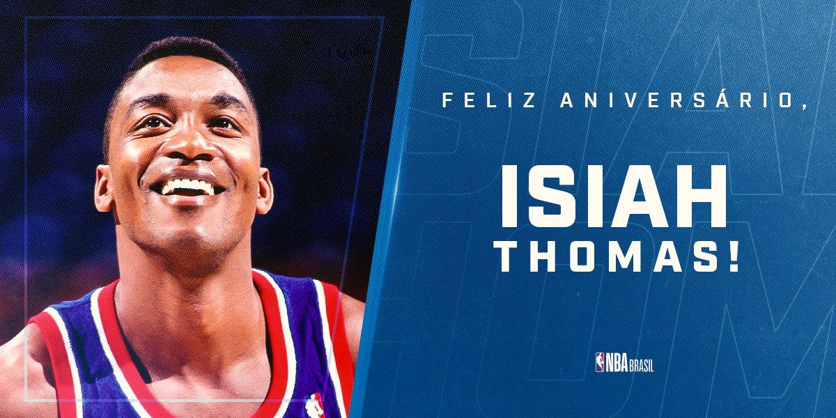 Feliz aniversário, @IsiahThomas! 🎊🏀  A lenda 2x campeã com o @DetroitPistons e 12x #NBAAllStar completa 60 anos nesta sexta-feira!  #NBAVault #NBABDAY #DetroitUp https://t.co/xsoZjlM481