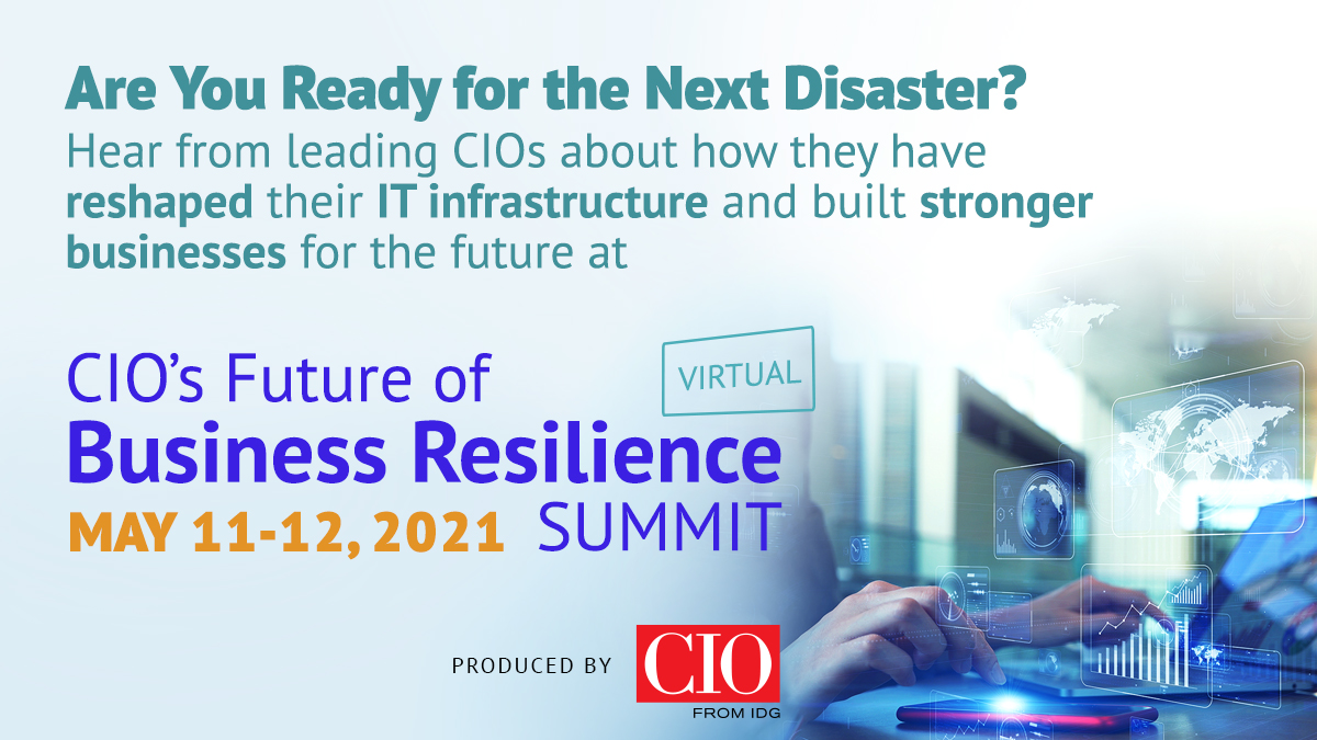 CIO's Future Of Business Resilience Summit