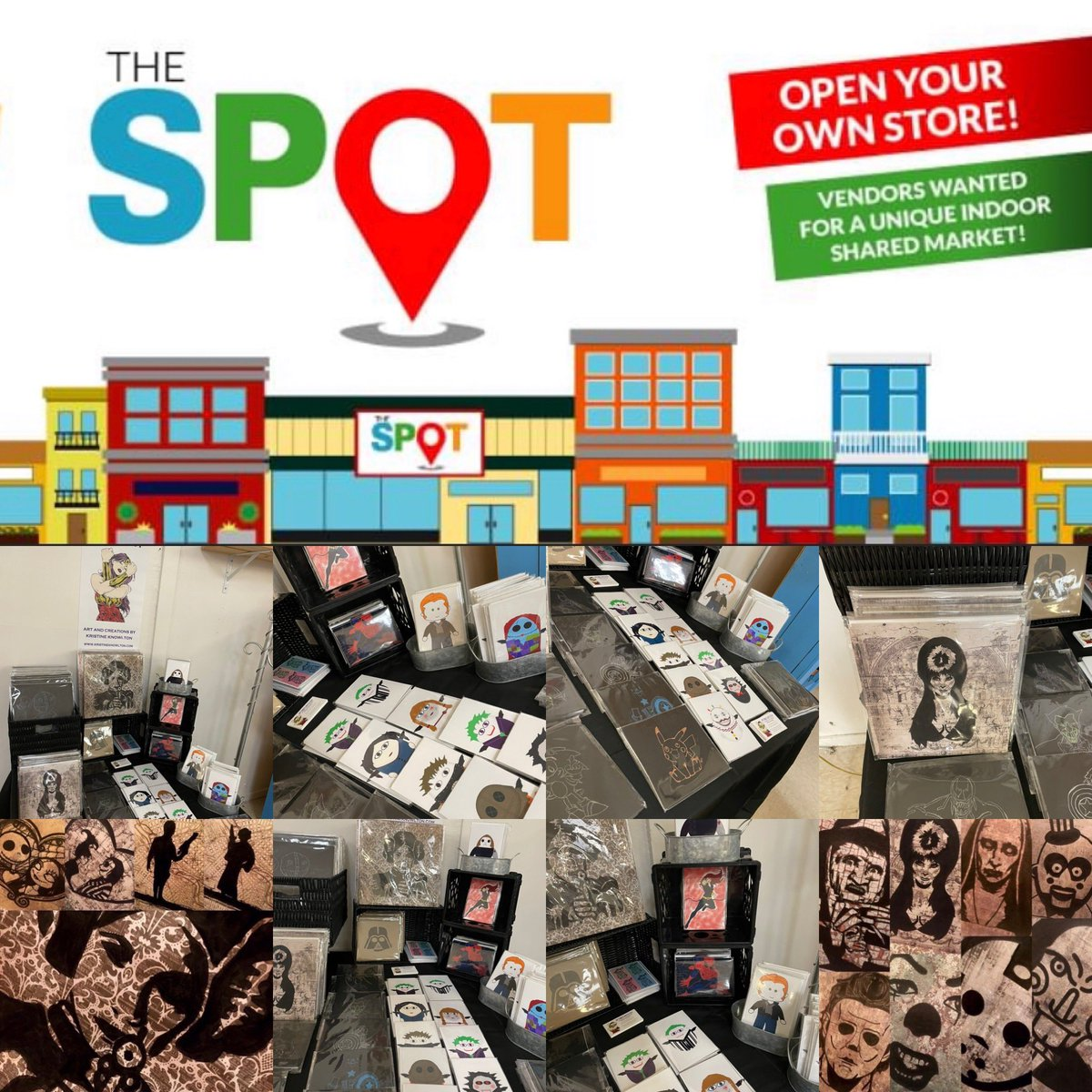 You can now swing by The Spot in Vineland Offical home of Optimus Artistry!!! We are so happy and honored to be a part of the Spot!! Come on down for amazing shopping!!! @thespotattheave  #thespot #thespitsttheave #art #shopping #vintage #art #shops #antiques #family #vineland https://t.co/YEIzRsy5OC