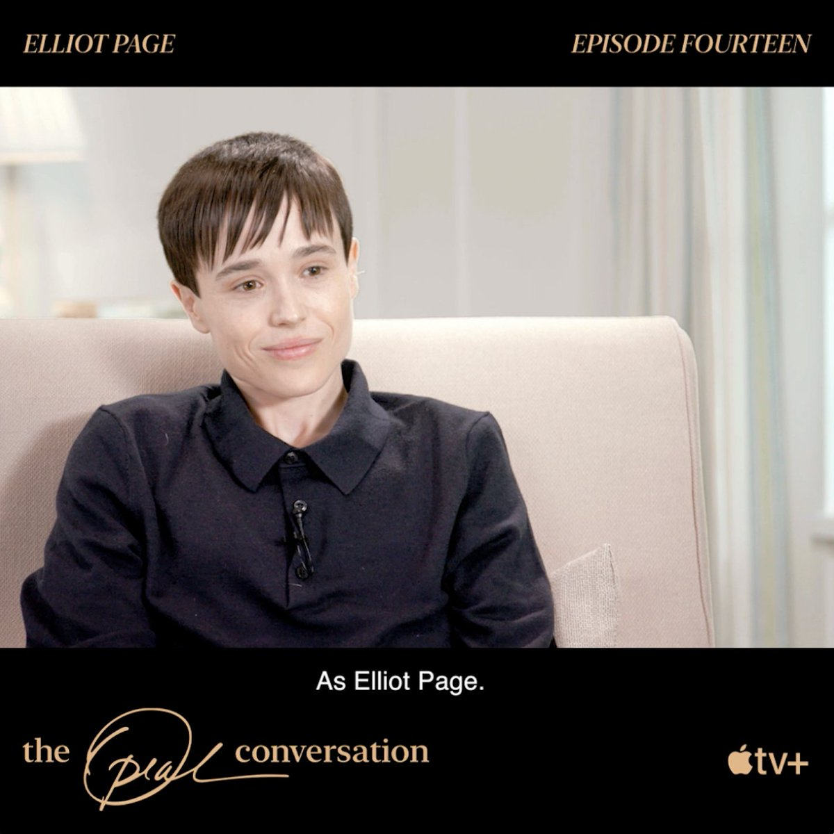 Since announcing his transition @TheElliotPage has yet to sit down for an on-camera interview, until now. He speaks with @Oprah about living authentically and the struggles he faced along the way. Watch #TheOprahConversation now on Apple TV+