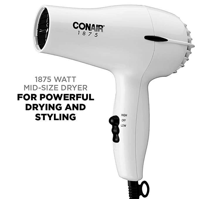 ad: $9.99 (41% off)   Conair 1875 Watt Mid-Size Styler Hair Dryer  Link0 Link0