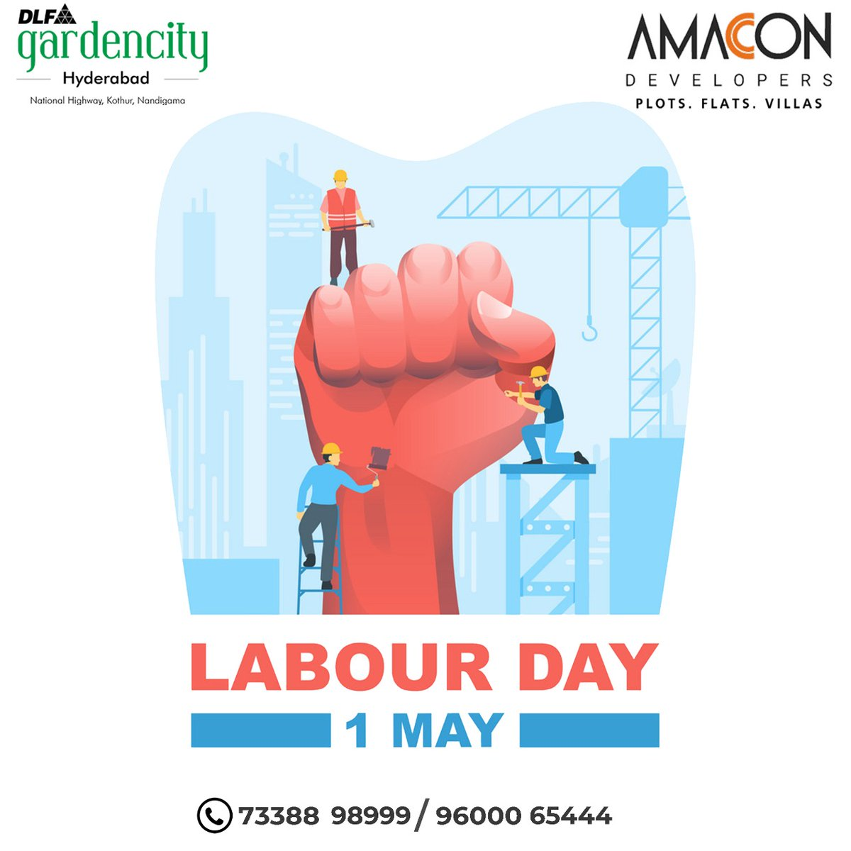 With hard work comes great satisfaction.  Happy May Day.  #Mayday #Labourday #Mayday2021 #Amacondevelopers https://t.co/TOk7YMRMoK