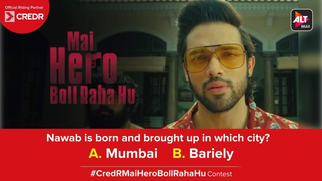 Here's the third question of the #CredRMaiHeroBollRahaHu Contest!  Do read the T&C* before participating - https://t.co/PXRuCvrSD1  #CredR #ContestAlert #ContestIndia #ContestTime #MaiHeroBollRahaHu #ALTBalaji #ContestMela #ContestLovers https://t.co/98kG2YJYMz