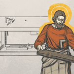 Image for the Tweet beginning: St. Joseph, the carpenter and