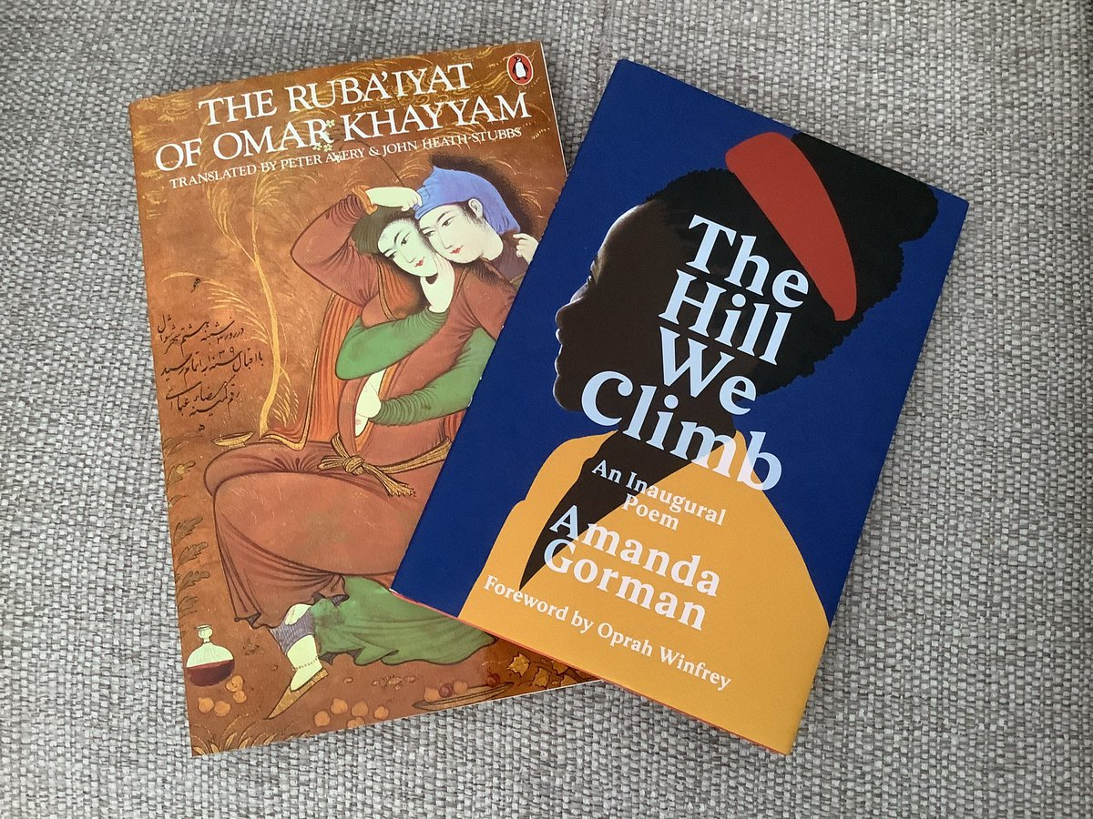 Monday is a public holiday so this weekend is an opportunity to delve into the techniques used by @TheAmandaGorman in her great inauguration poem, as well as discovering pre-Mongol #Persian #poetry... Eclectic taste, me? Never! 😂😂😂 #amreading #poetrycommunity #books