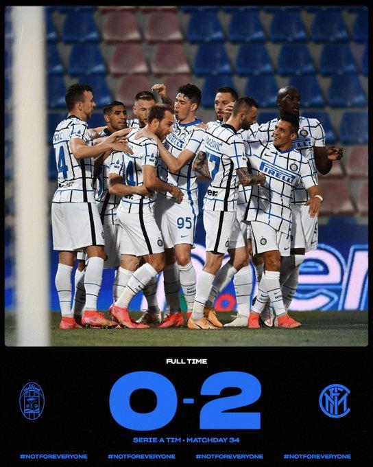 Skor akhir Crotone 0-2 Inter Milan