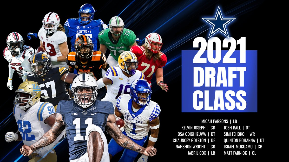 RT to welcome our 2021 #DallasCowboys Draft Class ✭ https://t.co/XfLi7nJS9z