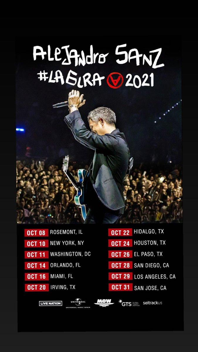 📣 ¡Mayo llegó con nuevas fechas para #LaGira 2021 de @AlejandroSanz en EU! No te la puedes perder, adquiere tus entradas en este enlace 👇 #LaGiraUSA 🇺🇸  @MOWmanagement