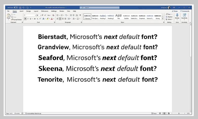test ツイッターメディア -【どれが良い?】マイクロソフト、Wordなどでの新しい標準フォント候補5つを提示https://t.co/cEwPAahfokユーザーに対してどのフォントを気に入ったかフィードバックを求めており、その意見を踏まえて今年後半に新しい標準フォントを発表する予定だという。 https://t.co/wsWRpagcYh