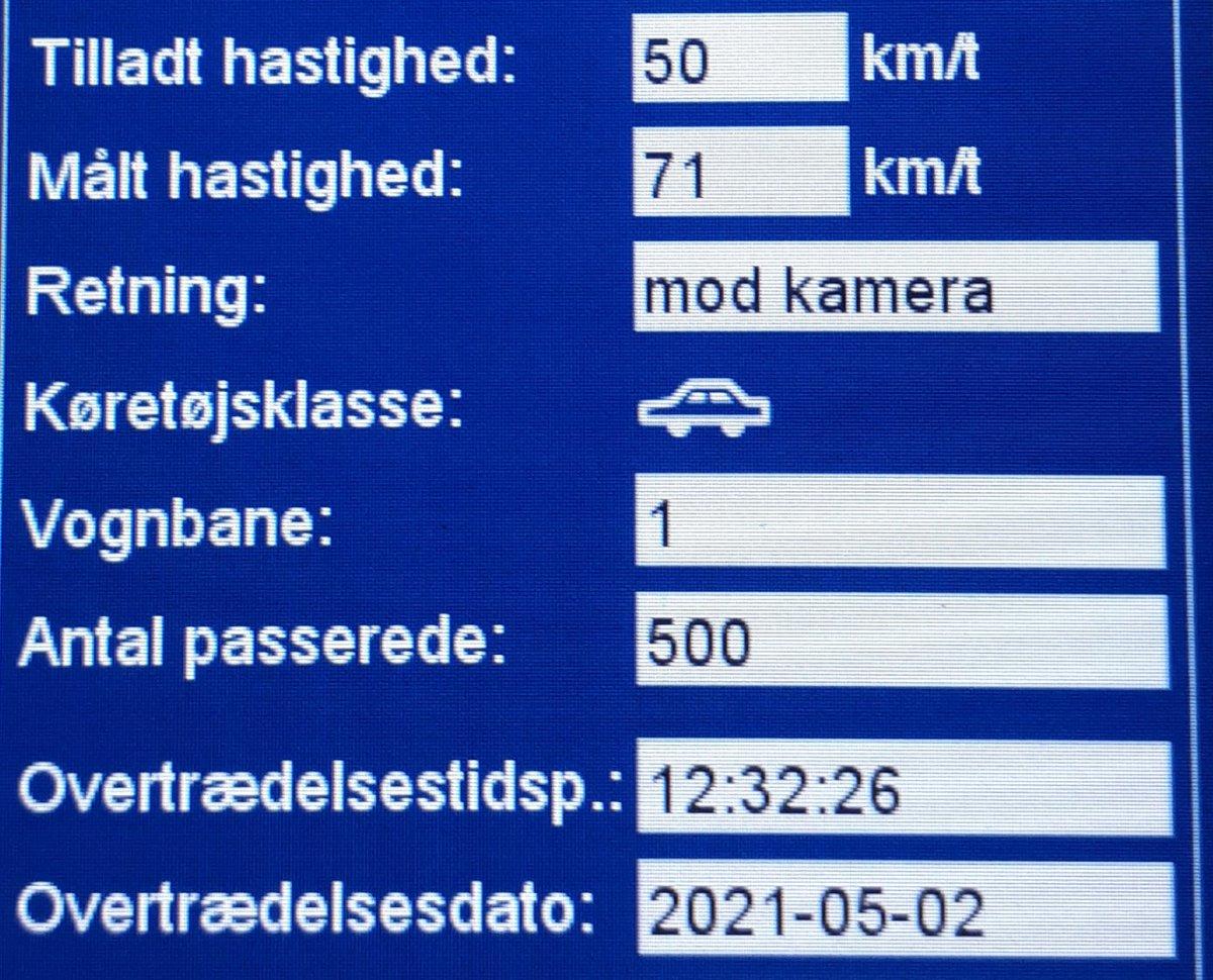 ATK har besøgt vores faste fokusstrækning Ribevej ved Haderslev. Vi måtte desværre blitze 8 bilister som havde for travlt, den hurtigste bilist kørte 71km/t i byzone så det udløser også et klip. Sænk farten og hjælp alle sikkert frem, vi kommer igen #atkdk #politidk https://t.co/35IVAkDr8d