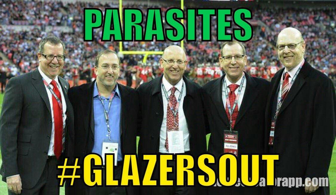 Enough of the parasites #GlazersOut https://t.co/vIFQtHgEM0