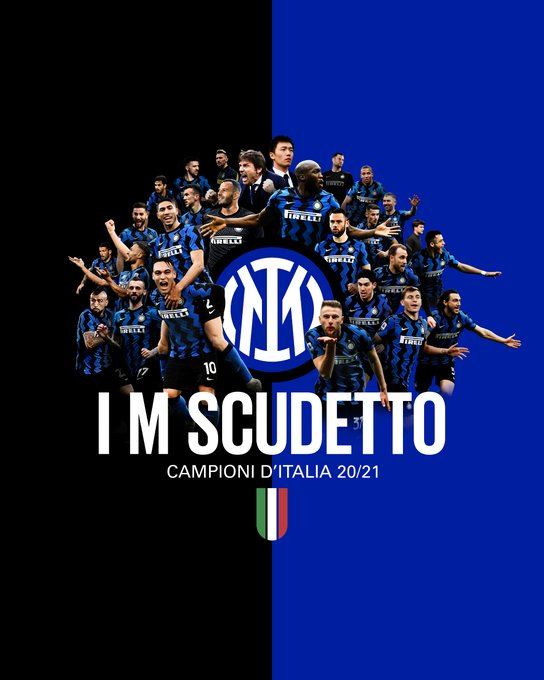 Inter Milan raih scudetto 2020-2021