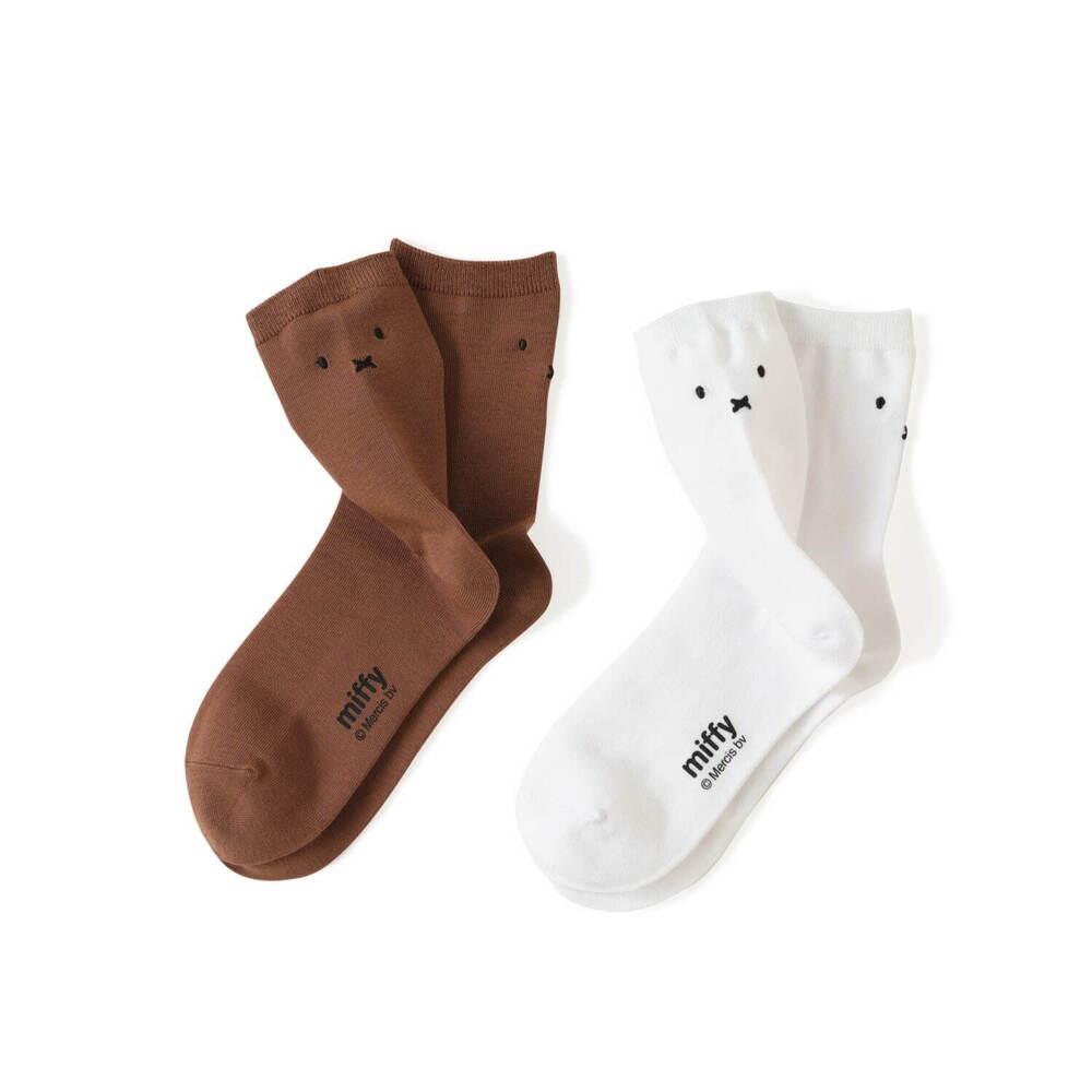 靴下屋×ミッフィーのコラボ靴下が可愛すぎる!異なる表情の総柄やフェイス刺繍入りなど、全部欲しいと話題!