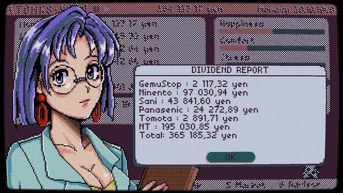 このゲームの作者、外国人なのに80年代90年代の日本株式市場のゲームを製作してて、ドット絵がマジでPC9801の16色っぽいパレットでドットうってて、なおかつ題名に9800とか入ってるので、いったいなにものなんだ、このウクライナ人。 https://t.co/nxOmrwl04j