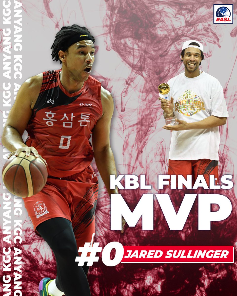 Jared Sullinger was selected as the MVP of the 2020-21 KBL Finals!! 🎉🏆  Nicknamed 'Professor Sullinger,' Jared Sullinger finished his last class yesterday, leading KGC to win the title. Sullinger went OFF, recording 42 points and 15 rebounds @Jared_Sully0 https://t.co/6hHxIaJai2