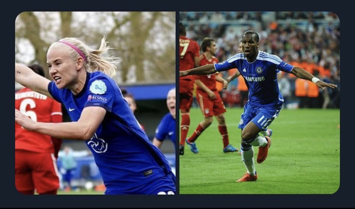 Thanks for the throwback @PernilleMHarder  @ChelseaFCW @ChelseaFC 💙 https://t.co/vv8pvHYSDE