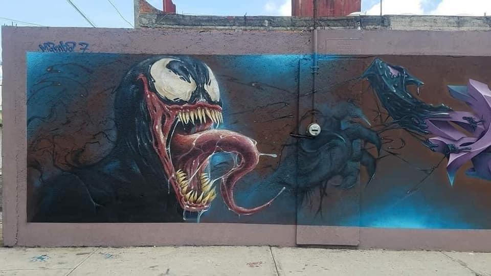 Venom Mural Spiderman política mexicana TierraGamer