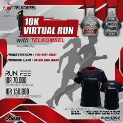 10K Virtual Run with Telkomsel Balikpapan • 2021