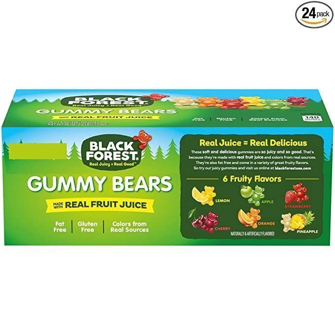 ad: $7.59    Black Forest Gummy Bears Candy (Pack of 24)  Link0 Link0