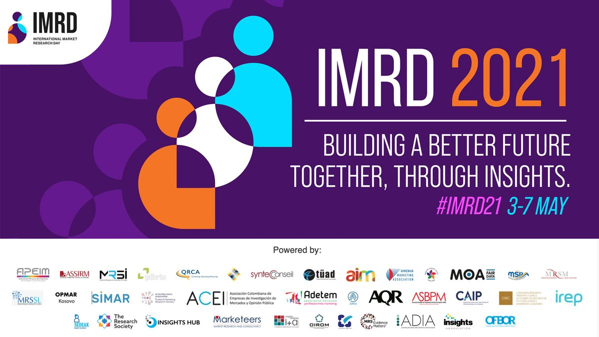 Today is the beginning of #IMRD21, a great moment of exchange and sharing, where you can discover a series of testimonies about CSR and the strengthening of insights. Be curious!@Imediacenter_ @InfoproDigital @ESOMAR @ConseilSyntec @adetem @IREPasso https://t.co/jDCQZ3Uy4K
