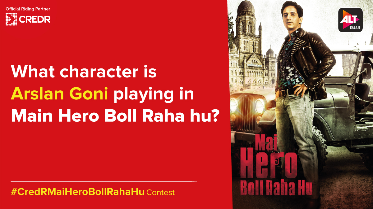 Here's the fifth question of the #CredRMaiHeroBollRahaHu Contest!  Do read the T&C* before participating - https://t.co/PXRuCvrSD1  #CredR #ContestAlert #ContestIndia #ContestTime #MaiHeroBollRahaHu #ALTBalaji #ContestMela #ContestLovers https://t.co/jHLzkle8bx