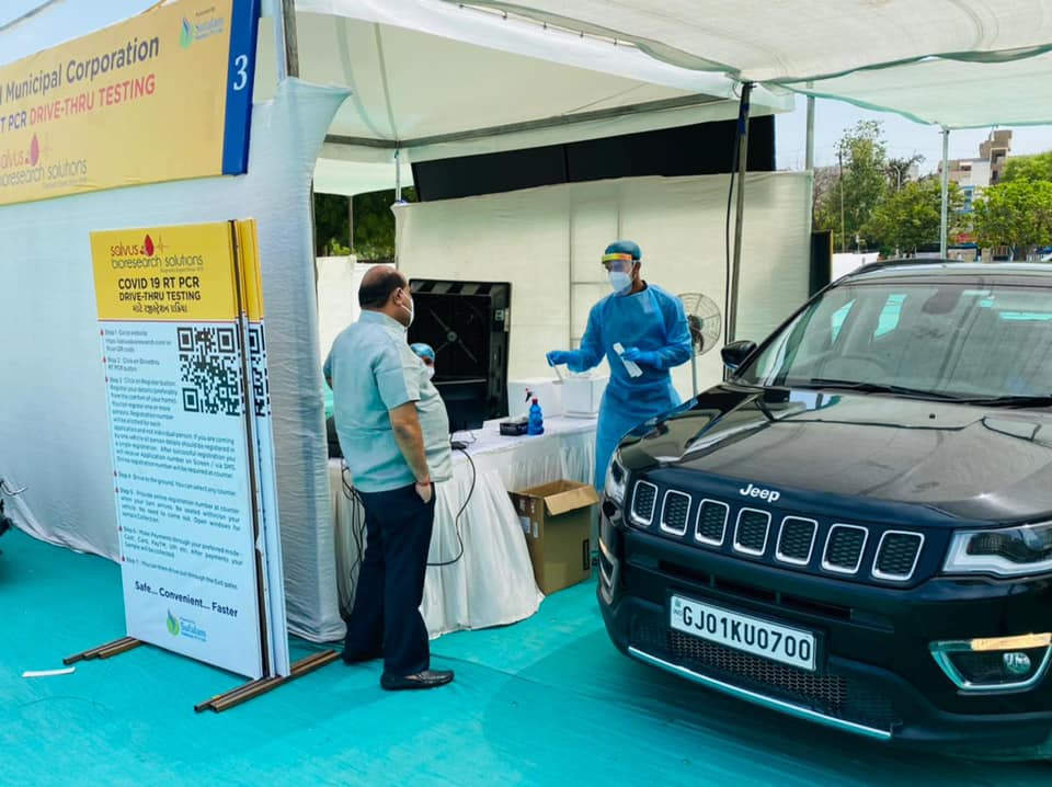 Another Drive-Through RTPCR test centre opens in Ahmedabad