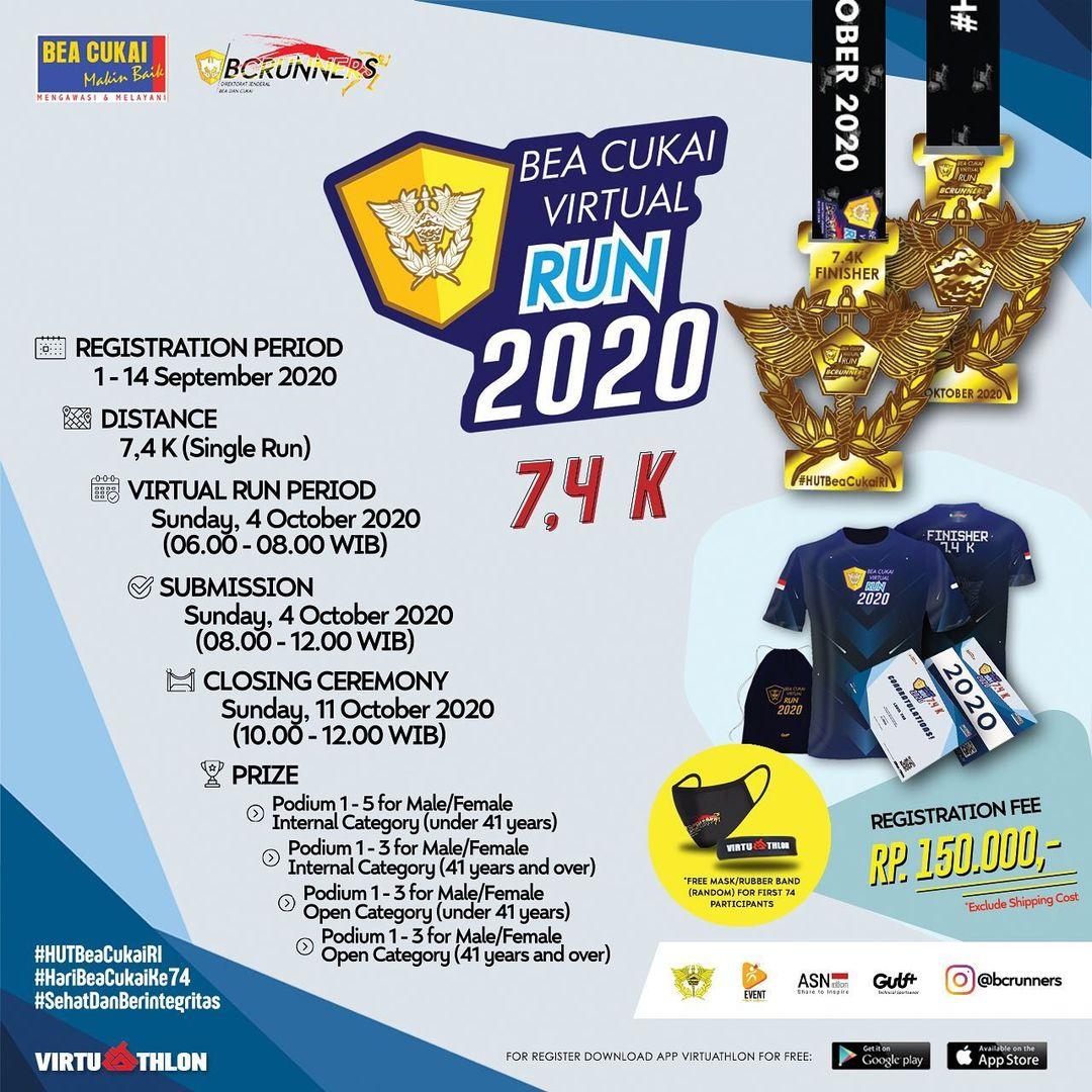 Bea Cukai Virtual Run • 2020