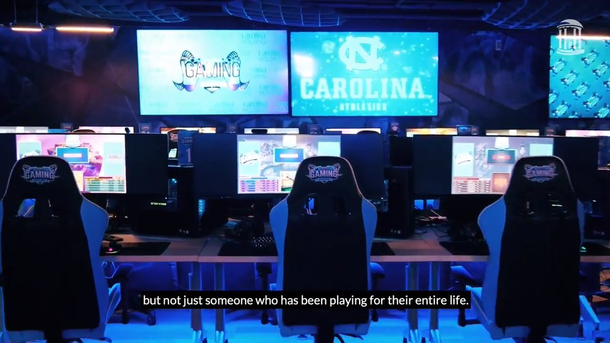 Introducing the Carolina Gaming Arena – the first esports arena in the ACC and an oasis for #UNC students of all skill levels to come together. The arena features state-of-the-art gaming PCs and monitors provided by @Lenovo: https://t.co/U00sXaU7cl https://t.co/lQL3ASpqjL