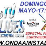 Image for the Tweet beginning: DOMINGO 9 MAYO ,DESDE 17:00