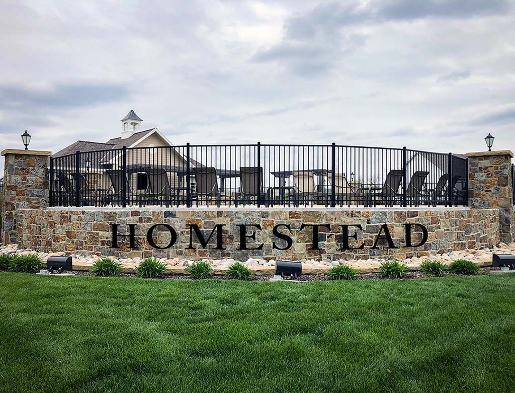 Exterior black aluminum dimensional letters for Homestead of Liberty Subdivision  #letters #dimensional #3d #DimensionalLetters #DimensionalSign #AluminumLetters #aluminum #ExteriorSign #subdivision #homes #living https://t.co/7OUWUiceyk