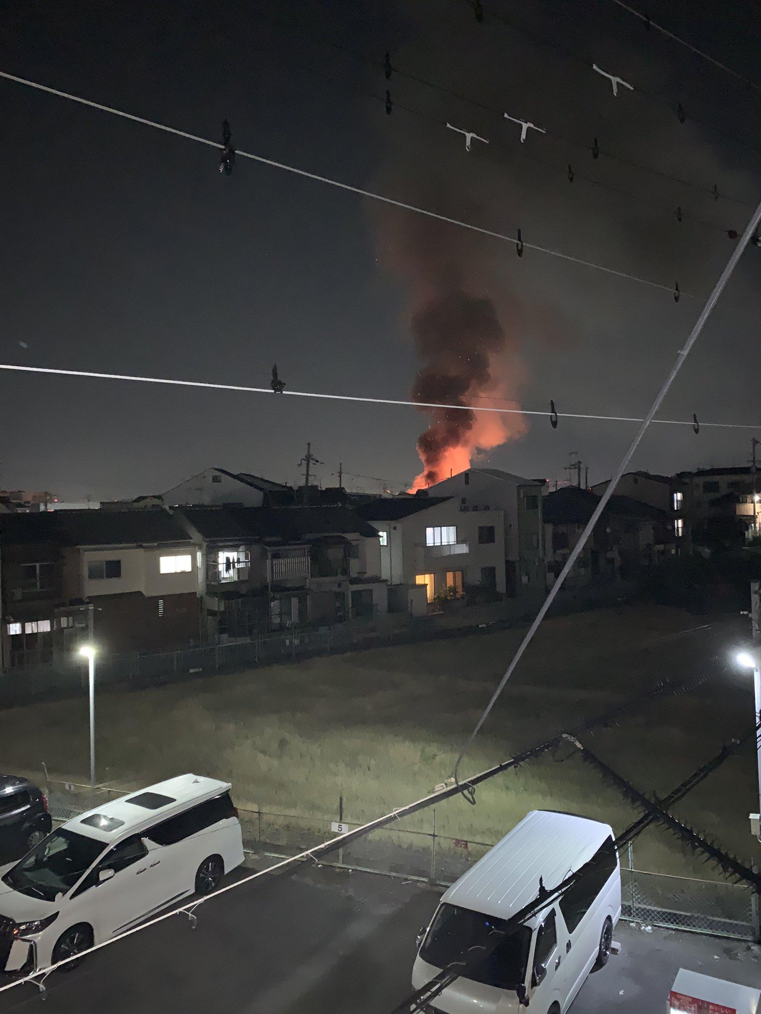 画像,摂津市鳥飼西で火災が発生しています。近隣の方はご注意下さい。#摂津市#火災 https://t.co/eimfBUV35C…