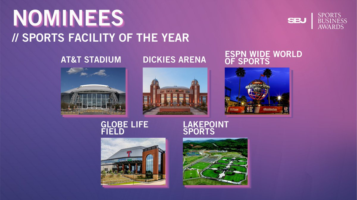 With @WJHWInc having worked on 3 out of the 5 incredible venues, we like our chances of having the winner of the @sbjsbd Sports Facility of the Year in our portfolio. Having a winner in 2019 and 2020 we want the trifecta! Good luck to all the nominees. #WeAreWJHW
