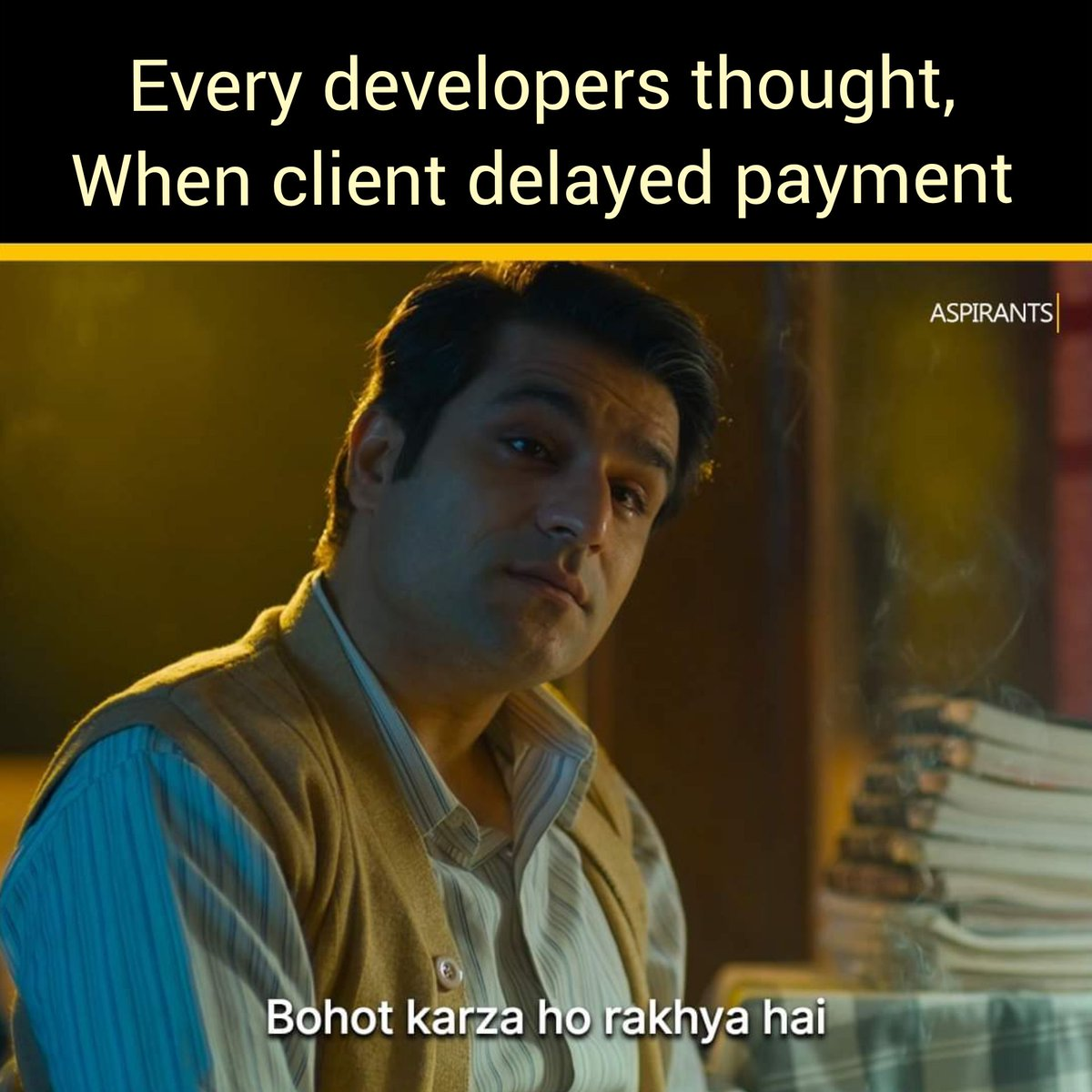 test Twitter Media - LOL Moments 🤣 Every developers thought, when client delayed payment #Aspirants #tvfaspirants #tvf #domains #VPS #dedicated_server https://t.co/HhV9bkWKDd