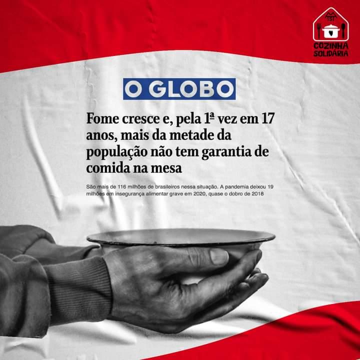 Esse é o cenário de caos que tanto o governo Bolsonaro quer promover. O MTST segue na contramão inaugurando 26 Cozinhas Solidárias em vários estados para alimentar o corpo e a alma de quem mais precisa.  Colabore com esse projeto em: https://t.co/GGPuSgGiTk https://t.co/FSvWZCLqg9