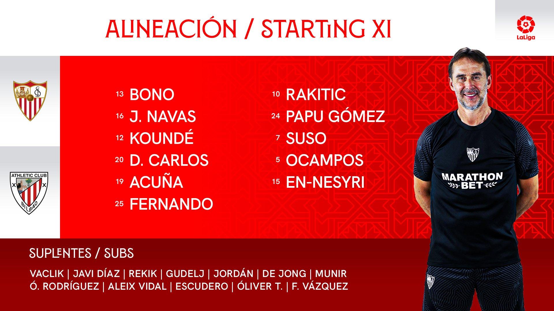 E0exMslWQAIav_k?format=jpg&name=large Alineaciones oficiales del Sevilla-Athletic - Comunio-Biwenger