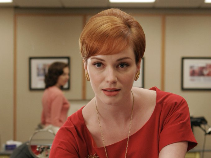 There\s never a dull moment when joan is around. happy birthday to the fabulous christina hendricks!