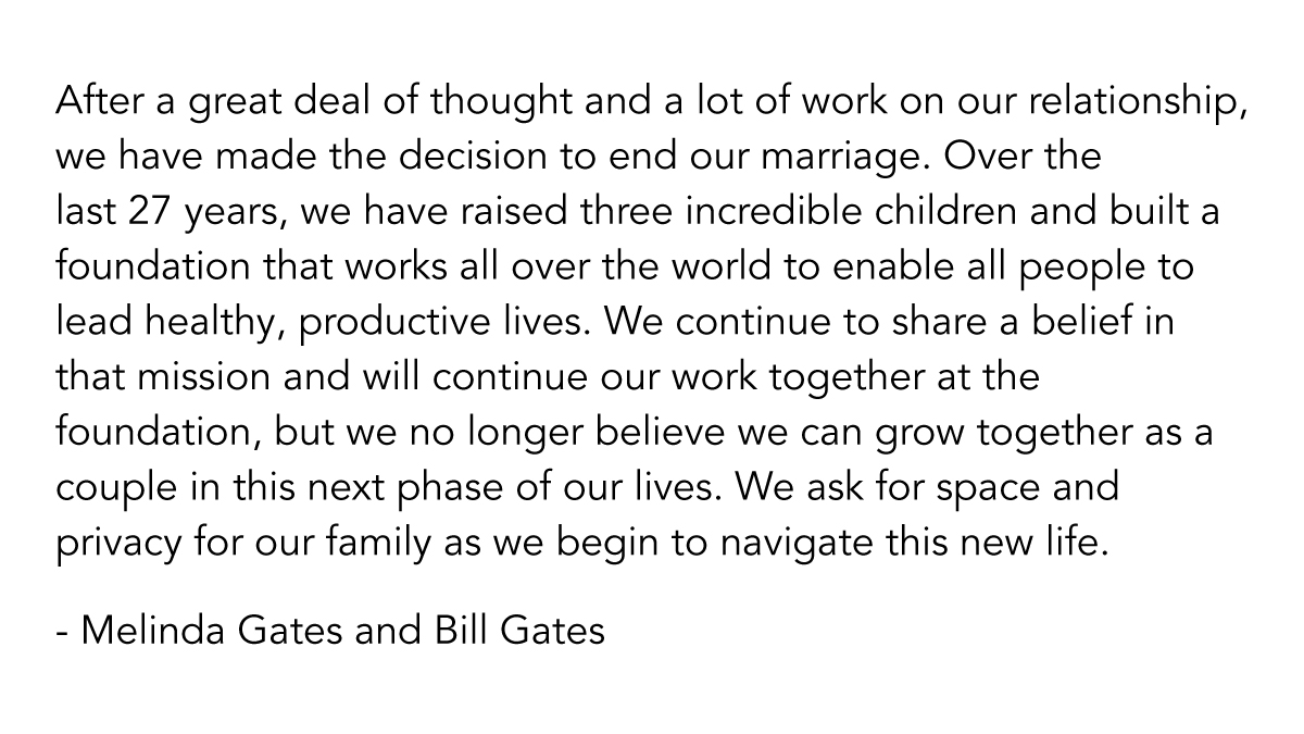 """#Billgates asks for """"space and privacy"""" while he is pushing #vaccinePassports On Us All.  What happened Billy Boy? Did Your Wife leave U For A Cuter #Nerd With a bigger #HardDrive  Because Of Your #MicroSoft  #Nanotechnology ? #Loser"""