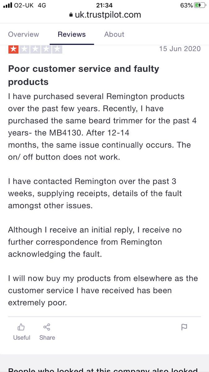 #BoycottRemington shoddy company with terrible customer service can see why they partnered with the Glazer leeches @RemingtonUK https://t.co/IdArbK70GY