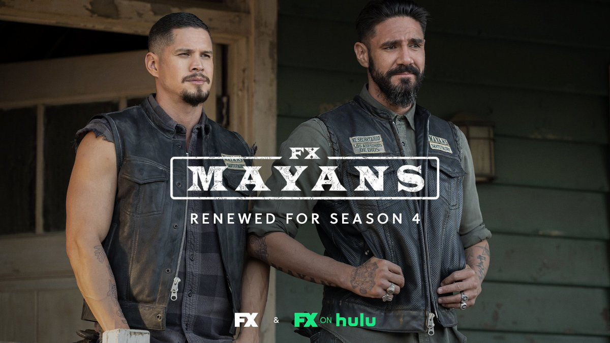 your brothers always got your back. ride on. @mayansfx has been renewed for season 4.