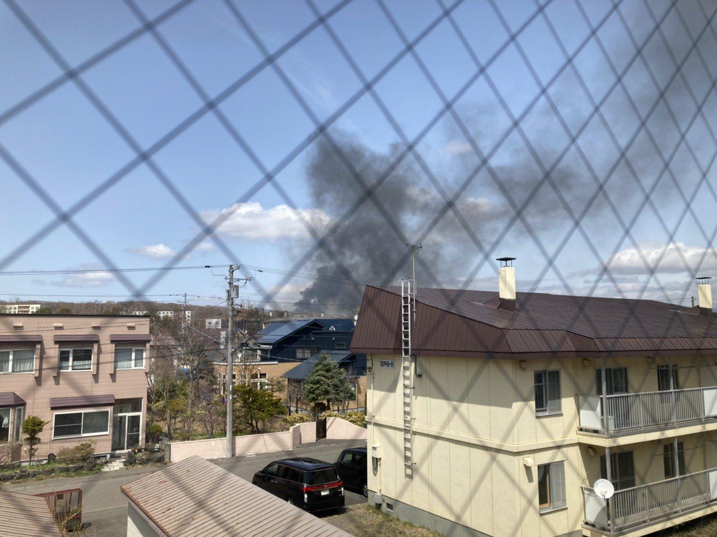 画像,苫小牧美園町火事結構燃えてるけど大丈夫かな#苫小牧火事 https://t.co/pwOQVn7odw。
