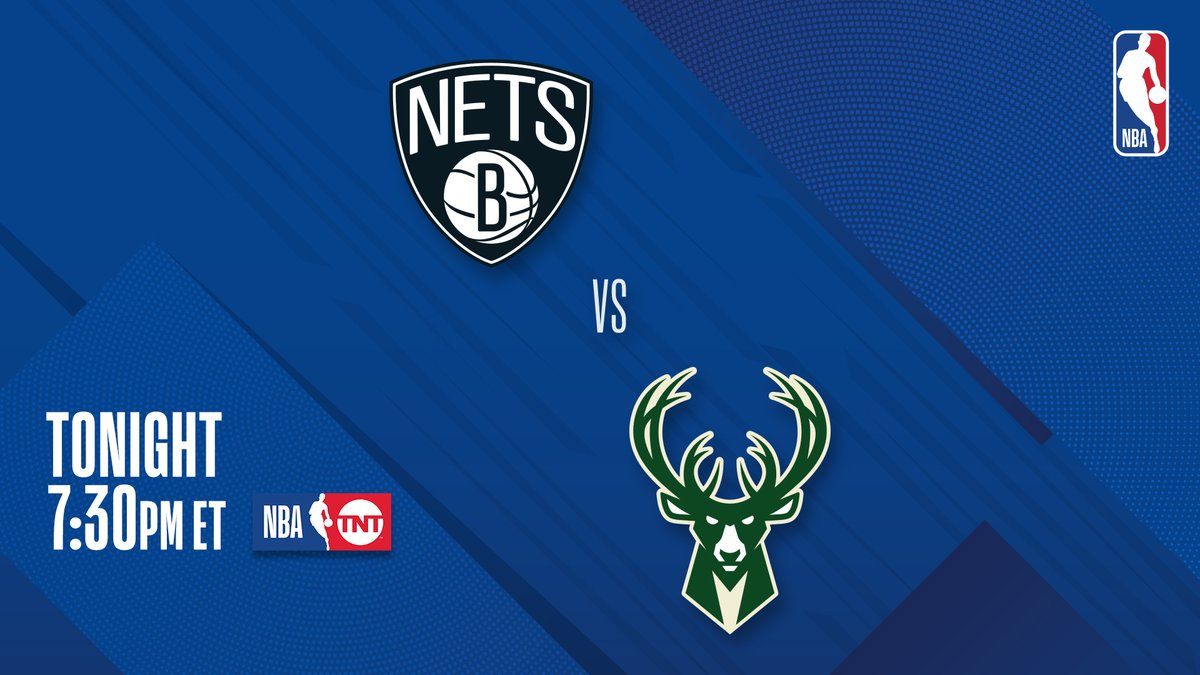 ▪️ Rematch from Sunday's thriller ▪️ Giannis: 49 PTS (season high), 3 BLK ▪️ Durant: 42 PTS, 10 REB, 7 3PM  #2 in East @BrooklynNets vs. #3 in East @Bucks at 7:30 PM ET on TNT! https://t.co/mzkK1gNV3e