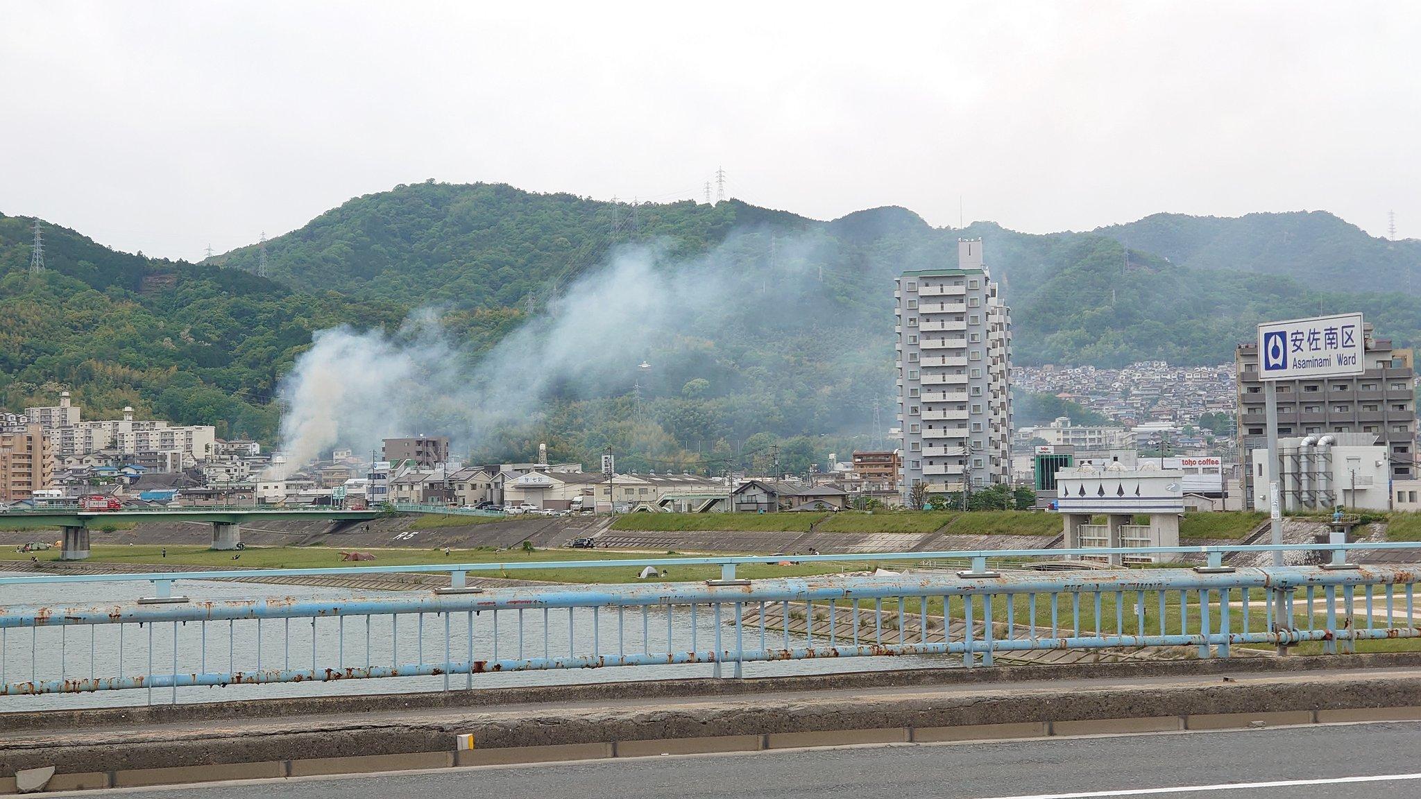 画像,長束、新庄町 辺りで建物火災のようだ https://t.co/U0aSZ0RupX。